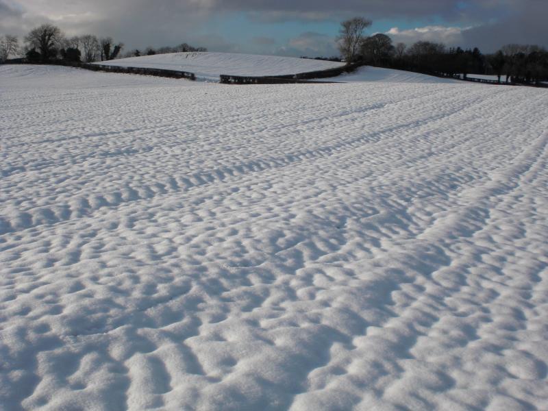 Scena della neve di Mill cottage