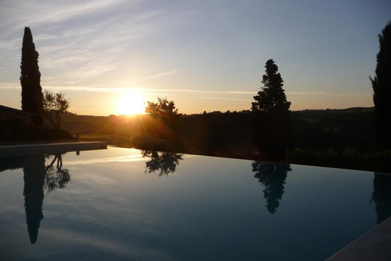 Special sunrise over the infinity pool