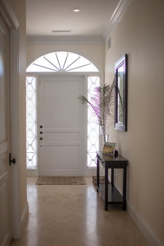 The light-filled foyer welcomes you into your holiday home.