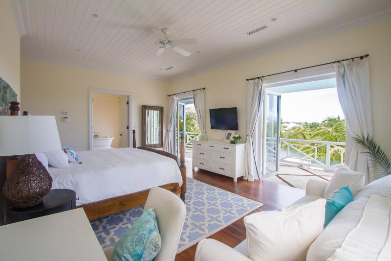 The Master Bedroom enjoys relaxing water views