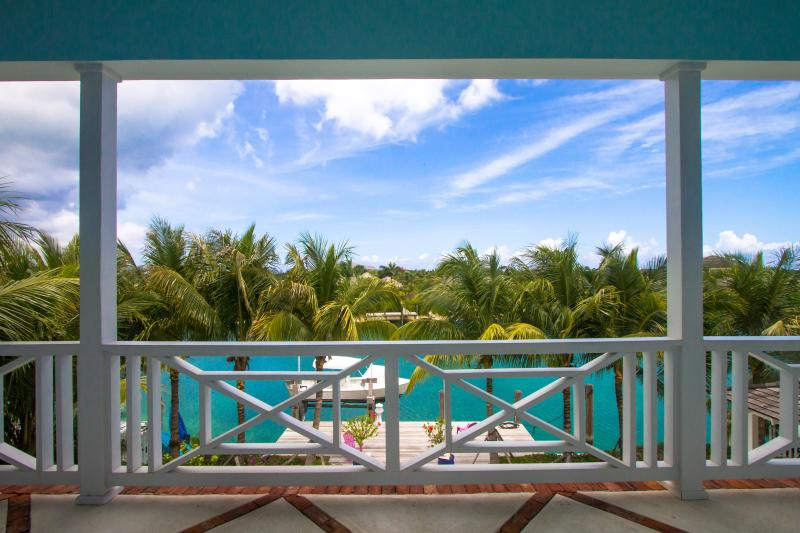 The beautiful blue views from the Master Bedroom Balcony