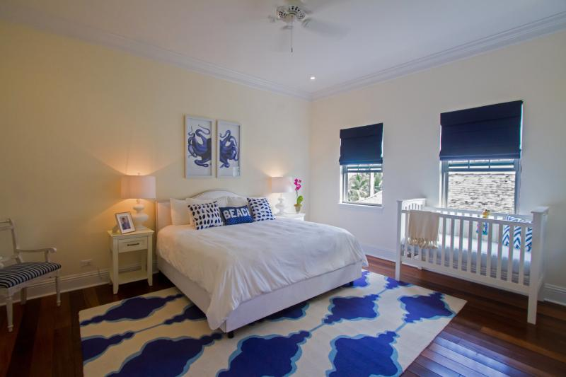 The large Octopus bedroom. We have a beautiful Pottery Barn crib if needed for your littlest guest.