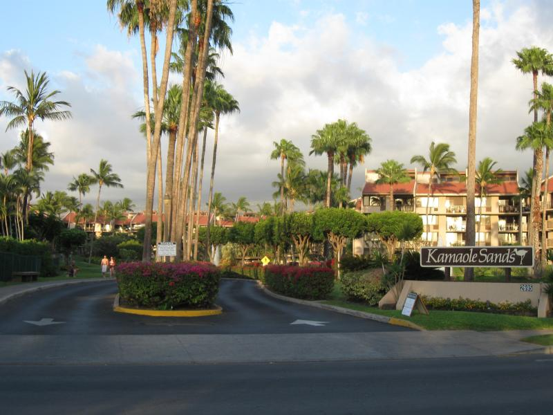 Entrance to Kamaole Sands- Short Drive to Check in Desk