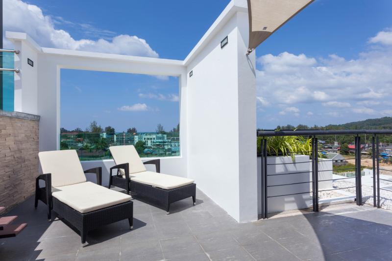 Terrasse sur le toit-terrasse