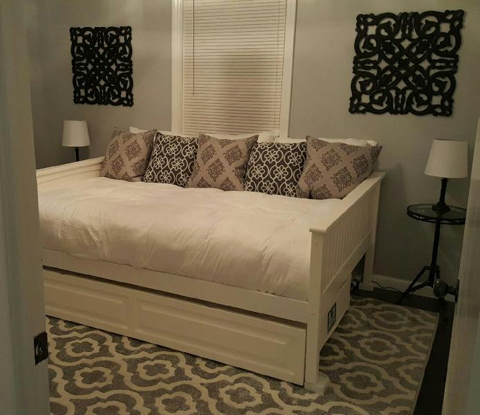 full bed with twin trundle in 2nd bedroom