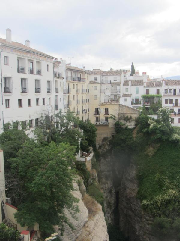 Take the train from San Roque to Ronda, a town famous for its dramatic views over ravines and chasms