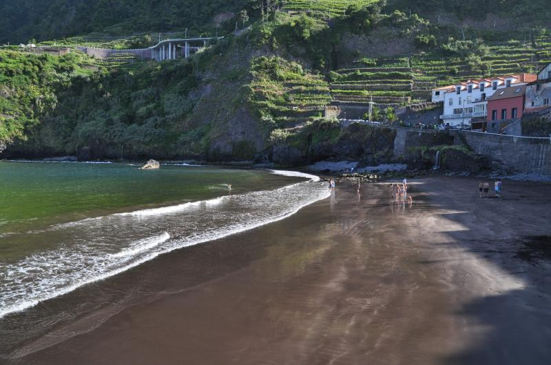 Our house is only a few steps away from this lovely sandy beach.