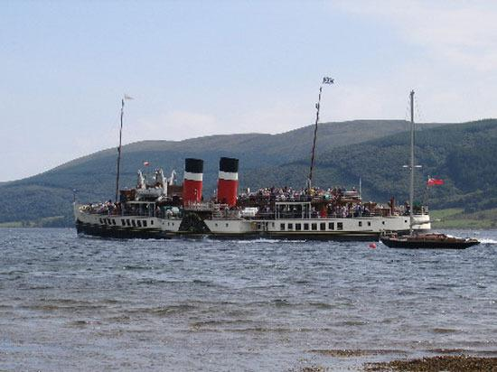 The Waverley regularly calls into Bute in the Summer where you can board for a sail