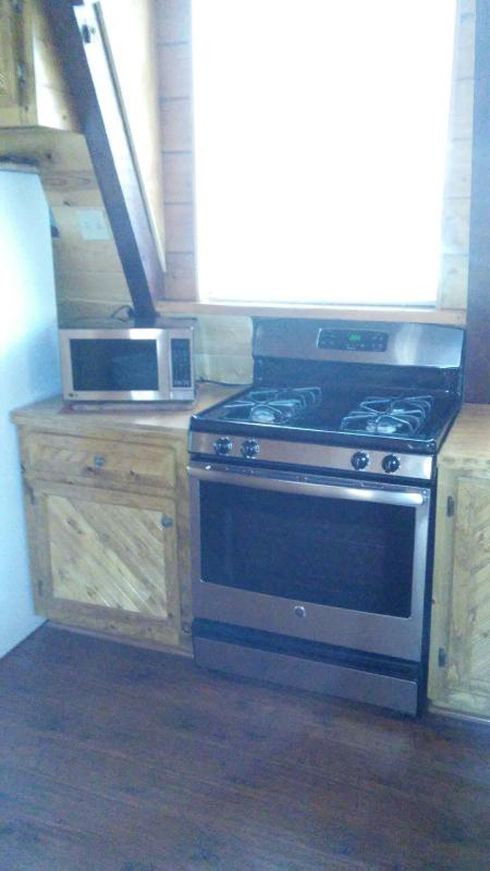 New stainless microwave and stove