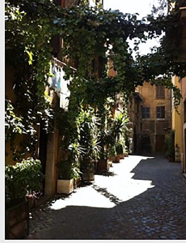 Your home on a quiet street in Rome's medieval neighborhood