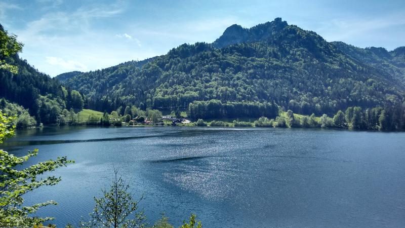 The idyllic Schwarzensee, set in the mountains near St Wolfgang