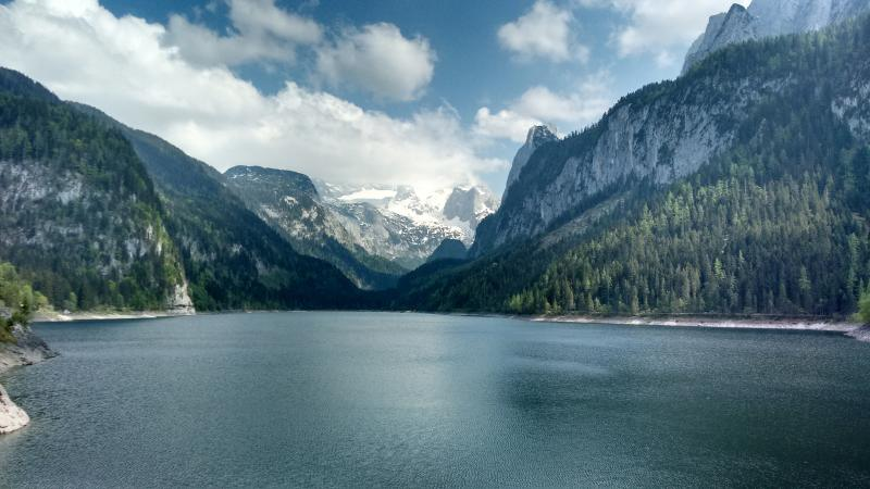 The Vorderer Gosausee and Dachstein glacier, only a short drive from the apartment