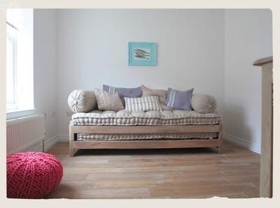 Sofa bed converts to two single beds