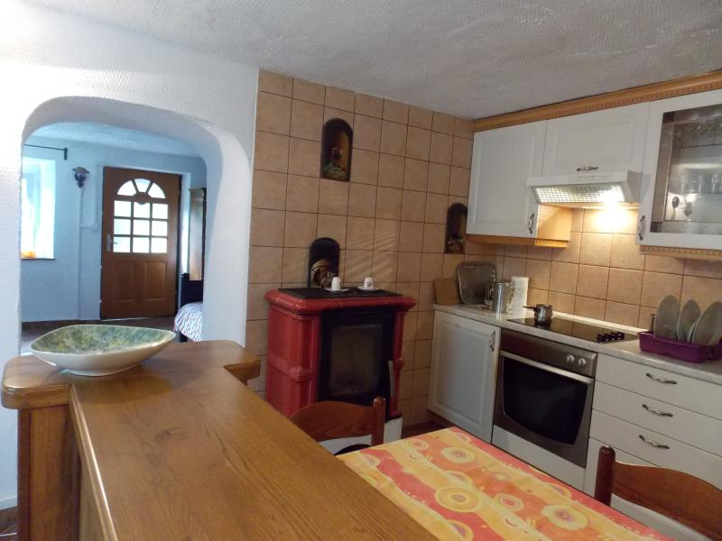 kitchen with the stove, dishwasher, fridge