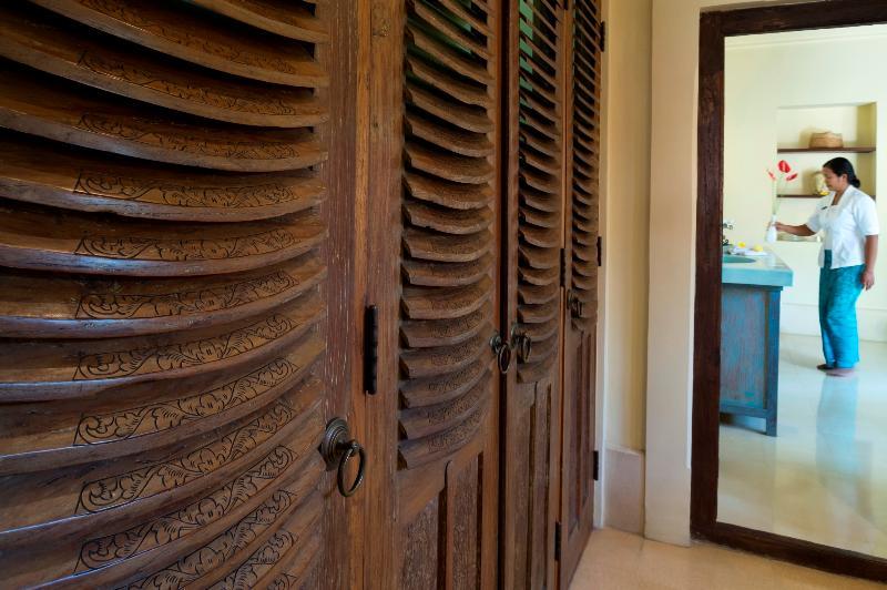 Master Suite Dressing Room Detail at Villa Frangipani