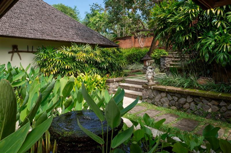 Terraced Entrance Gardens at Villa Frangipani, Canggu, Bali