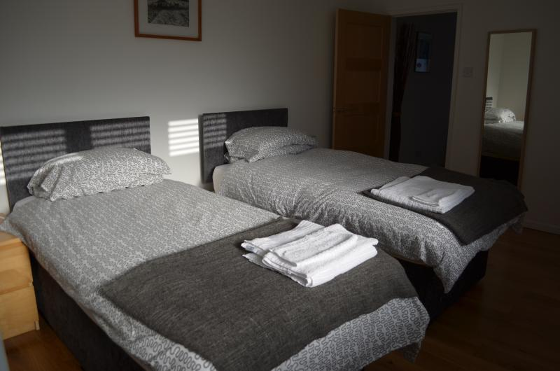 The bed can be made into 2 large single beds if preferred