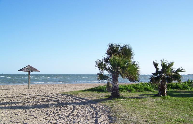Enjoy some time under a palapa at the Rockport Beach!