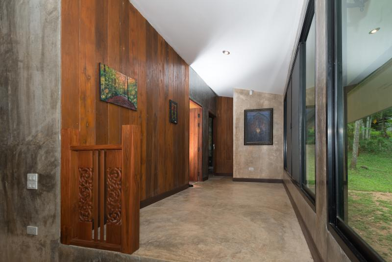 Spacious hallways with picture windows