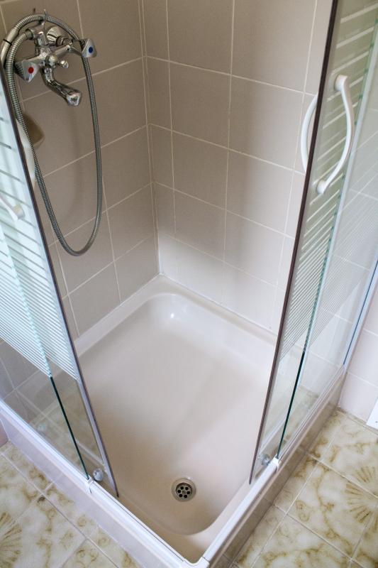Shower cabin.