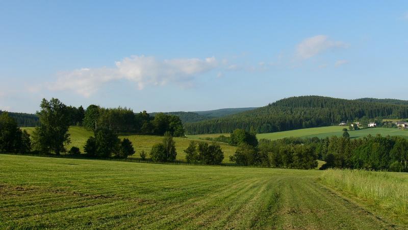 Blick auf den Kalkberg im Süden von Crottendorf