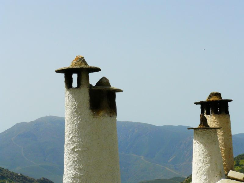 Traditional chimneys of the Alpujarras