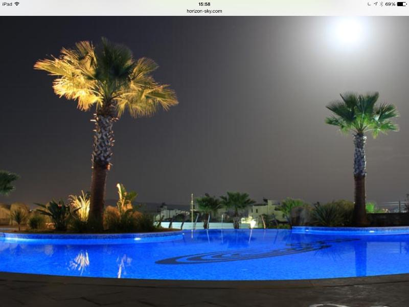Pools at night