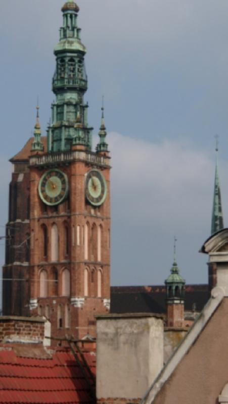 View from the apartment to Gdansk Old Town Hall