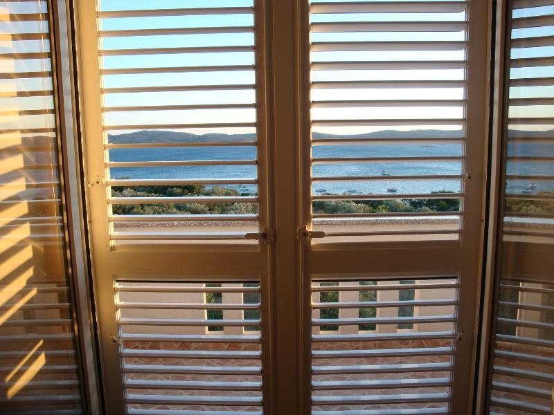 View through shutters