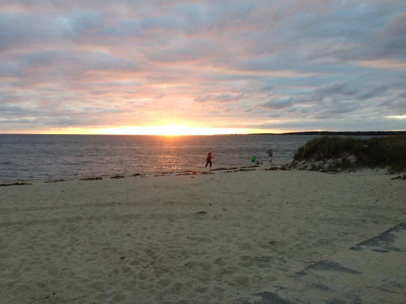 Ridgevale Beach at sunset