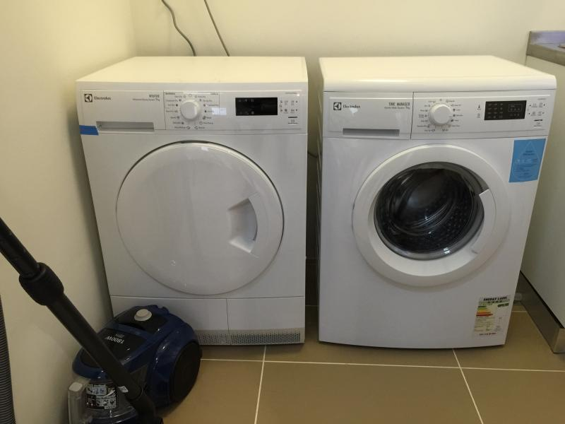 Washer, dryer and vacuum cleaner
