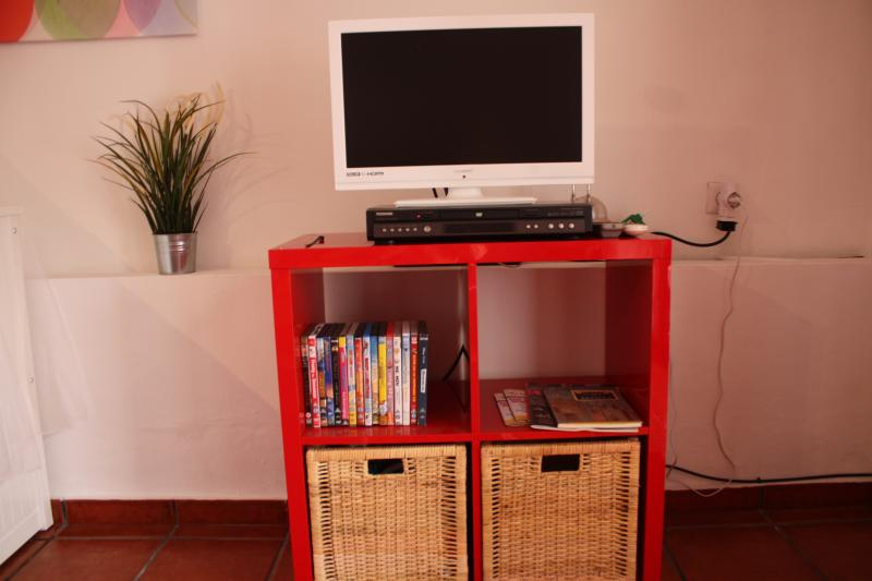 Entertainment for the kids, TV and DVD player plus some kids DVD's