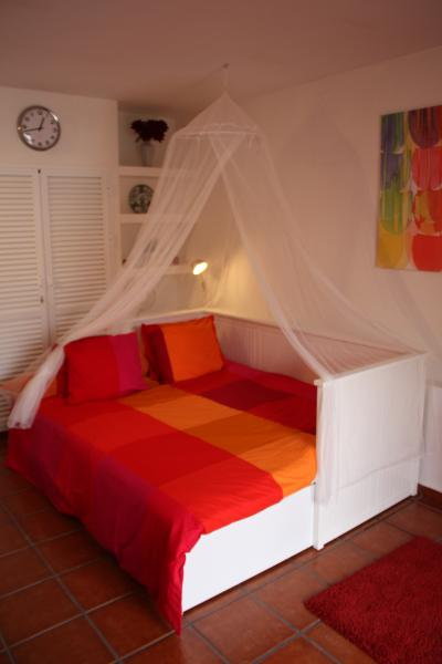 Ikea double bed with mozi net