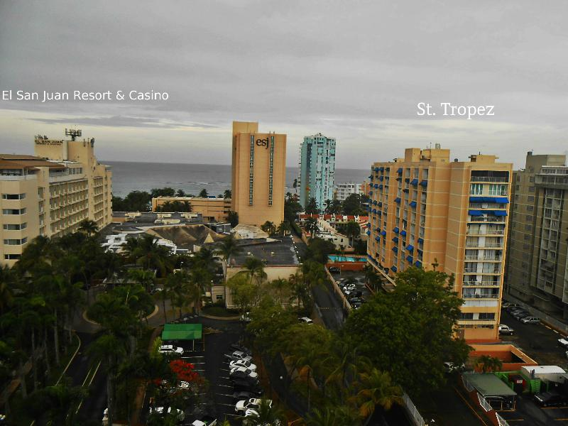 It shows our neigbors el San Juan Hotel, ESJ Tower and our building at the right
