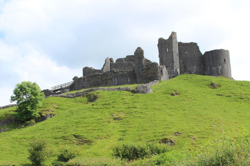 Carreg Cennen Castle with its underground tunnel & tea rooms offers something for everyone