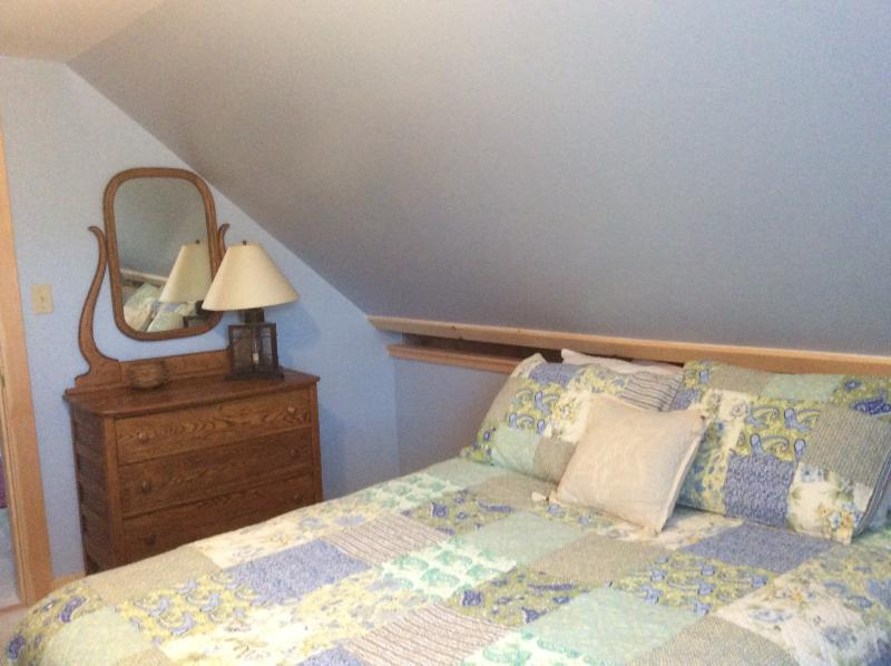 Newly constructed bedroom with queen bed
