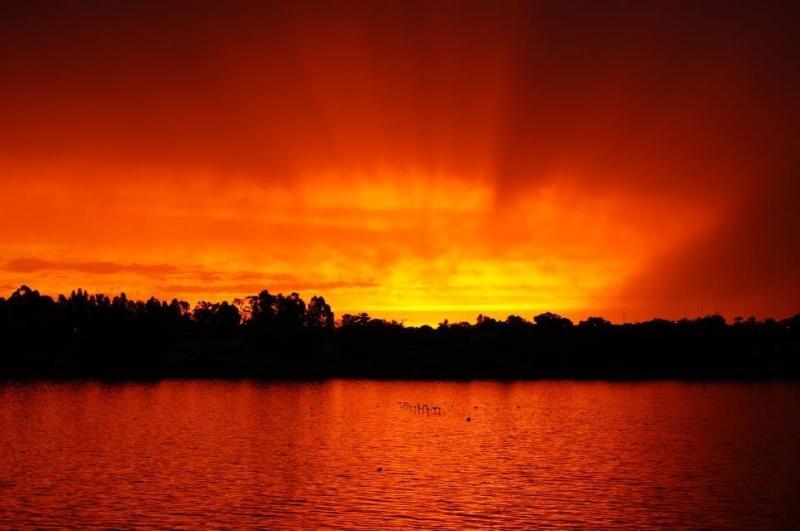 Sunset across the bay