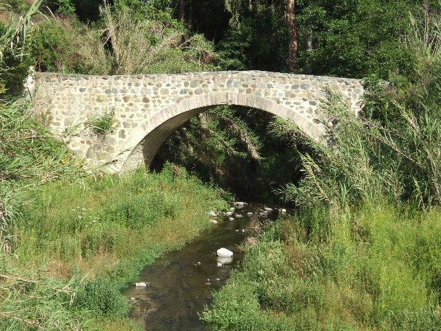 The old bridge in the village.