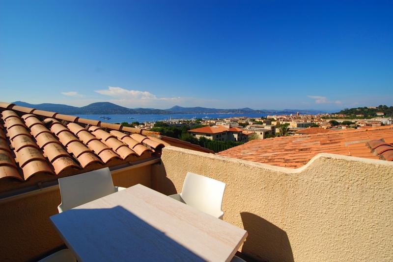 VISTA terraço com vista para Saint Tropez