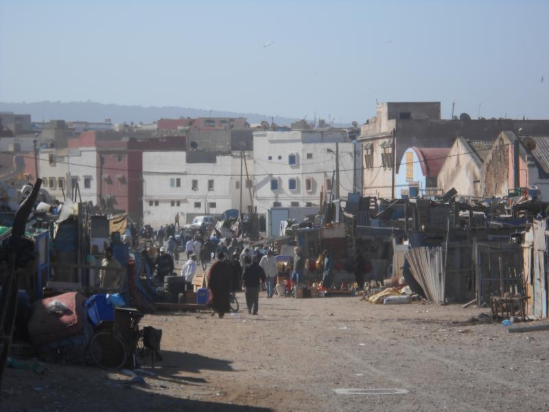 le célèbre marché de la brocante d'Essaouira