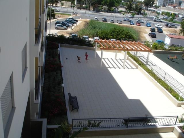 view from balcony of play area