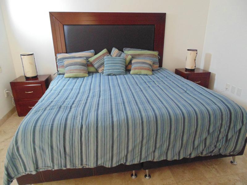 Mestre quarto com roupa de cama canadense