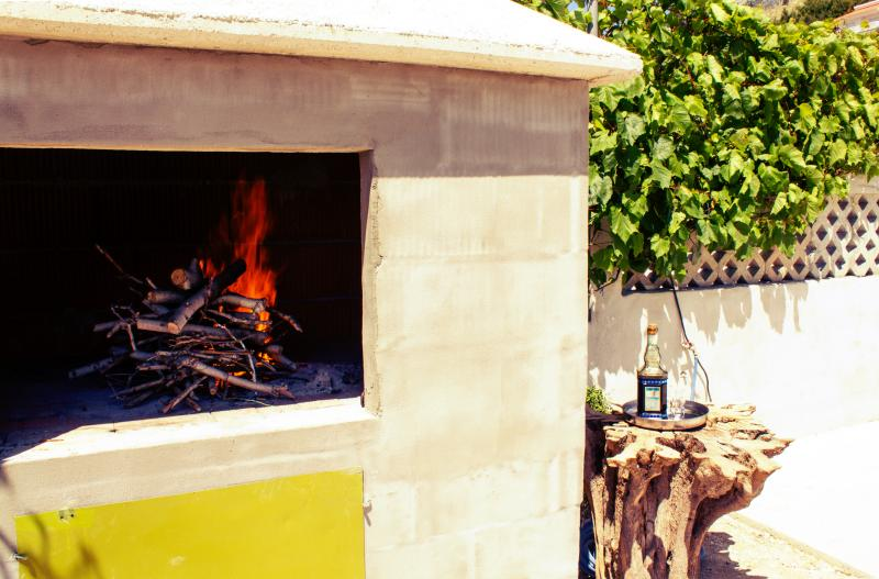 Outdoor fireplace. You can use it without hesitation.