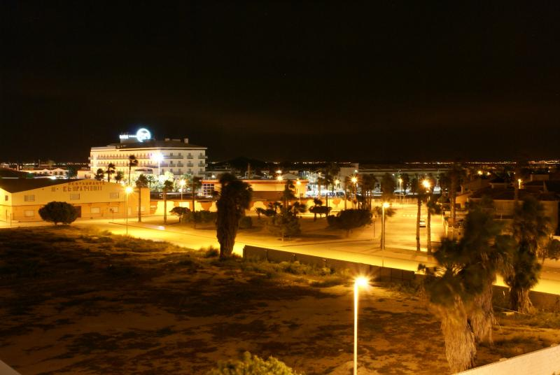 Night view of the town from our terrace
