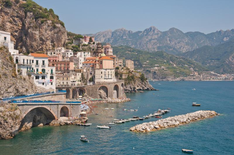 Amalfi Coast. View-Reachable by bus.
