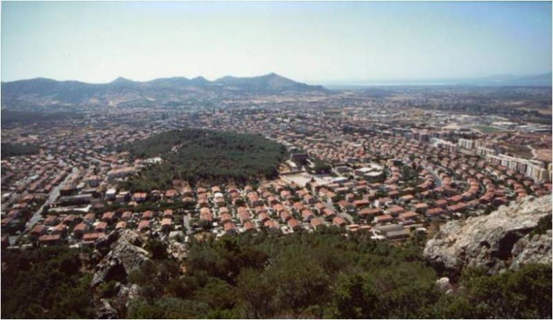 Carbonia top view