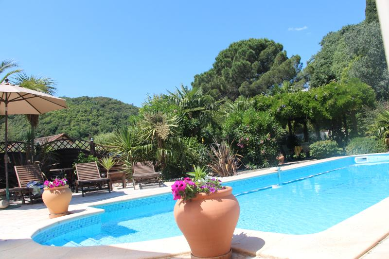 Peaceful quiet location delightful garden surrounding the pool, total privacy.