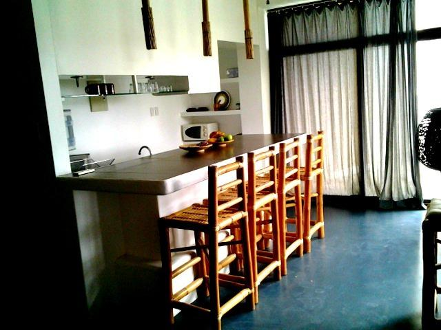 The kitchen with sea view
