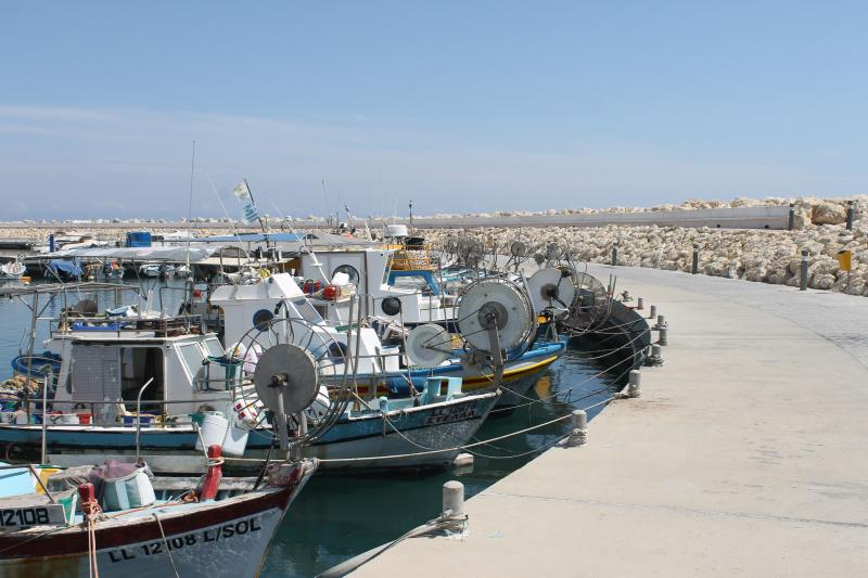 The new harbour at Zygi, 15 minutes drive (maximum)