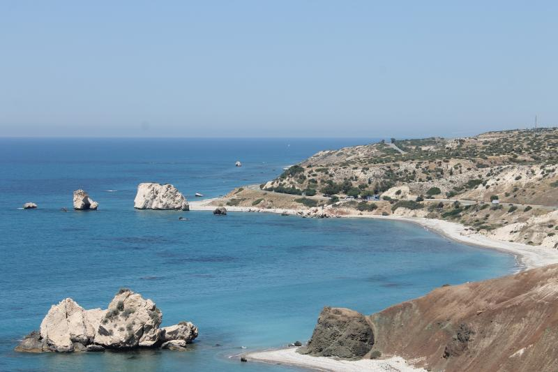 Petra tou Romiou better known as Aphrodite Rock, birthplace of Aphrodite